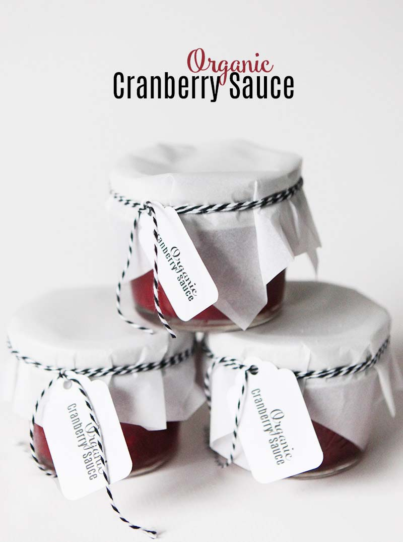 Organic super easy cranberry sauce - only 3 ingredients - paleo