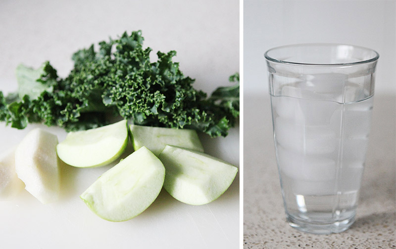 how to make kale juice in a blender