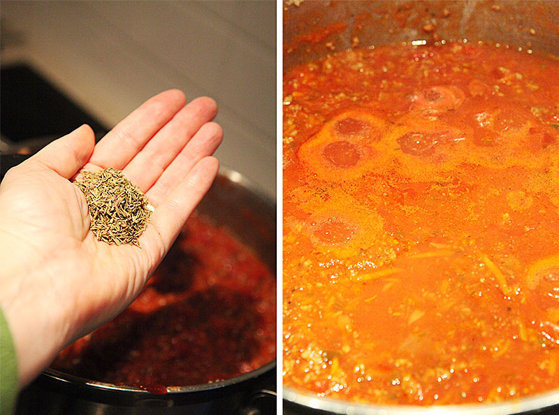 Meat sauce from scratch