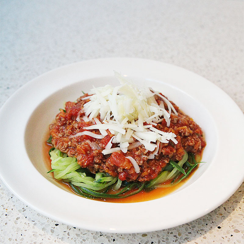 Zoodles meat sauce 1