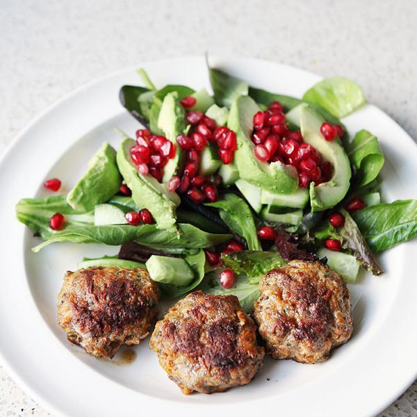 Fresh herb and juniper berry meatballs